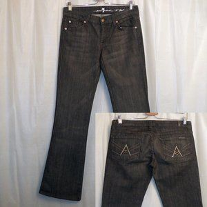 7 For All Mankind Boot Cut Jeans Black 28 (X 33)